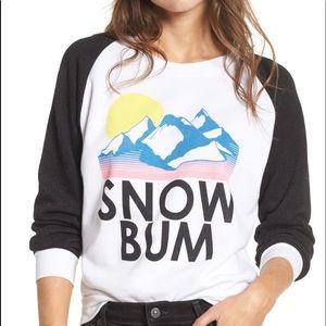 Wildfox Snow Bum Sweatshirt New With Tags Sz S